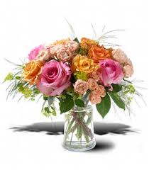 San Diego Flower Delivery Sunset Colored Garden Of Roses Mixed Roses Bouquet San Diego