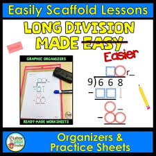 long division worksheets and organizers by caffeine queen teacher