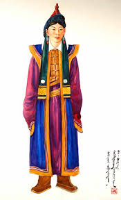 mongolian traditional costumes text in