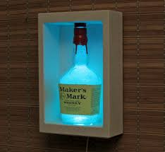 Man Cave Led Lighting by Makers Mark Whiskey Sconce Wall Mount Color Changing Led Lamp Bar
