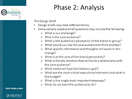 creative design brief questions objectives learn phase 1 of the design process orientation ppt