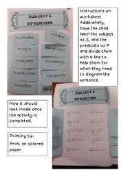 subject u0026 predicate interactive notebook by deborah perrot the