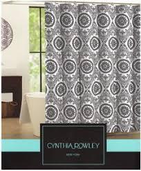 Grey Shower Curtains Fabric Tahari Fabric Shower Curtain Gray Words Writing On White Shower