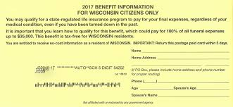 funeral expenses funeral expense mailer may be scam door county pulse