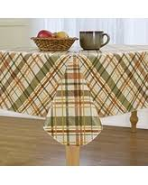 amazing deal on harvest plaid autumn peva vinyl tablecloth flannel