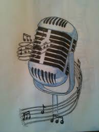 cup of illustration classic microphone tattoo