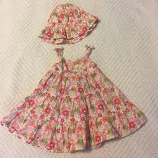 gymboree baby girls floral dress with hat 3 6 months from