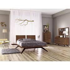 Modern Platform Bed Queen Copeland Astrid Wood Platform Bed Solid Walnut Vermont Made In