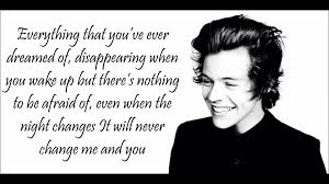 everything has changed testo one direction changes lyrics pictures