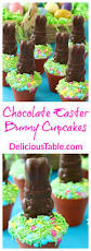 Easter Chocolate Chocolate Easter Bunny Cupcakes