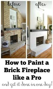 How To Clean Walls For Painting by Best 25 Painted Brick Fireplaces Ideas On Pinterest Brick