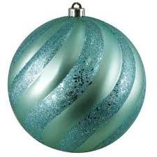 Glitter Christmas Ball Ornaments by Aqua Tree Polyvore