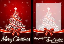 smart idea christmas card photo exquisite design background vector