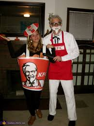 Peggy Bundy Halloween Costume Colonel Sanders Bucket Fried Chicken Costume Colonel