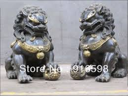 foo lions for sale bronze foo dog lion deco statue yyy on