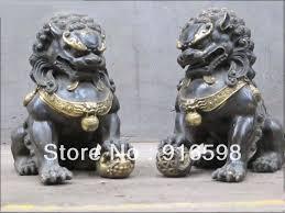 small foo dogs bronze foo dog lion deco statue yyy on
