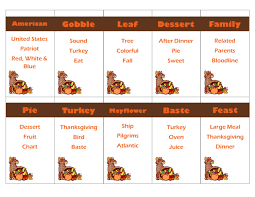 the first thanksgiving celebrated printable thanksgiving game taboo cards instant download by