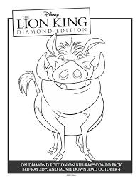 printable lion king pumbaa coloring sheet mama likes