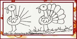 abc to drawing thanksgiving turkey