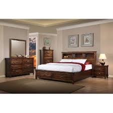 brown rustic classic 6 piece queen bedroom set jessie rc