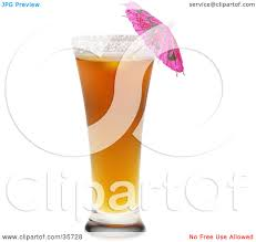 mixed drink clipart clipart illustration of a pink umbrella in a tall sun orange