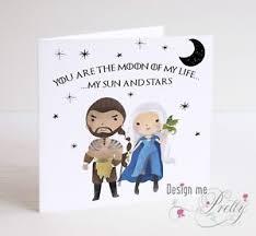 of thrones birthday card of thrones drogo and daenerys targaryen birthday valentines