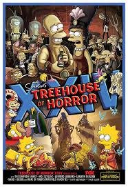Simpsons Treehouse Of Horror I - treehouse of horror xxiv promo poster simpsons family