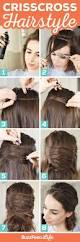 crisscross hairstyle elegant party wear hair style tutorial