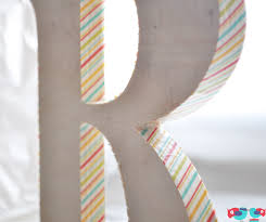 how to decorate a wooden letter with washi tape the love nerds
