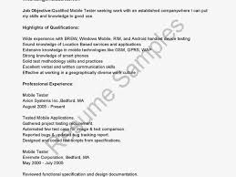 Software Testing Resume For Experienced Mobile Device Test Engineer Sample Resume 19 Tips For Software