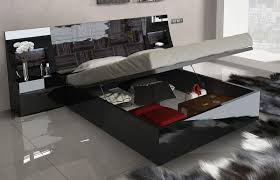 Black Lacquer Bedroom Furniture Made In Spain Wood Luxury Bedroom Furniture Feat Light Atlanta