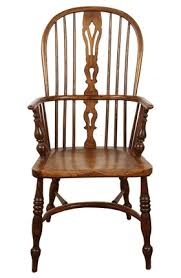 Antique High Back Chairs English Yew High Back Chair Folk Art Traditional Armchairs