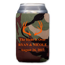 wedding can koozies custom hunt is koozies collapsible neoprene my wedding