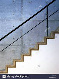 architectural details side elevation of modern concrete staircase