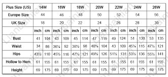 wedding dress size chart us popular wedding dress 2017