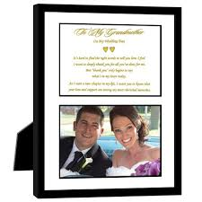 wedding gift photo frame thank you wedding gift for grandmother from