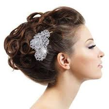 feather hair clip peacock feather hair comb tiara drop rhinestone hair