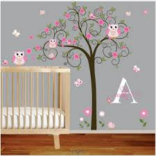 decor tree wall painting black white and gold bedroom kids