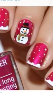 christmas present nail design a little sloppy and needed cleaned