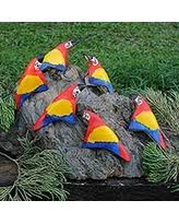 get this last minute shopping deal on leather ornaments macaws