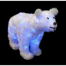 Skiing Polar Bear Christmas Decoration by Polar Bear Christmas Lights
