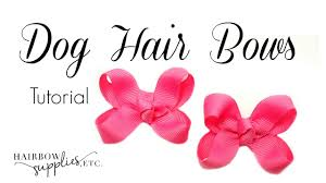 pink hair bow dog hair bows tutorial hairbow supplies etc