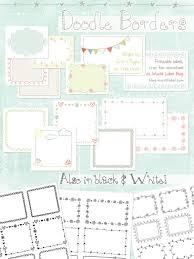 doodle 4 blank sheet printable doodle borders labels by inktreepress worldlabel