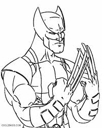 Printable Wolverine Coloring Pages For Kids Cool2bkids Color Page
