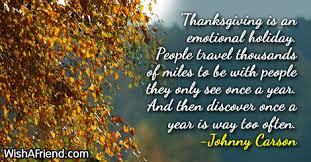 thanksgiving is an emotional thanksgiving quote