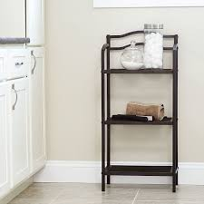 Wire Bathroom Shelving by Amazon Com Household Essentials 2 Tier Wall Mount Shelf Espresso