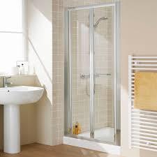 Lakes Shower Door Lakes Semi Frameless Bifold Shower Door 750mm 308 28 At Allbits