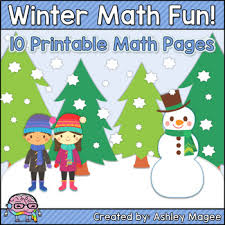 winter math fun freebie 10 printable math practice pages for winter
