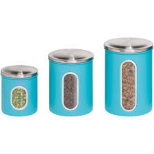 Blue Kitchen Canister Set Honey Can Do 3 Piece Nested Metal Food Storage Canister Set