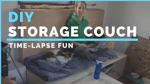 diy storage couch time lapse youtube